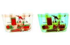 Смена работы фильтров псевдоцветного изображения с включенной функцией дополнительного окрашиванием оптически плотных объектов и псевдоокрашивания (палитра OCS)