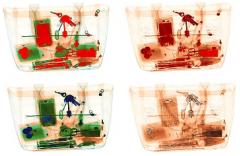 Смена работы фильтров псевдоцветного отображения с дополнительным окрашиванием оптически плотных объектов и фильтра отслаивания органических материалов