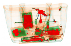 Псевдоцветное изображение с дополнительным окрашиванием оптически плотных объектов
